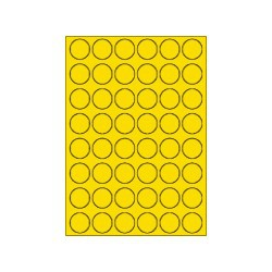 Ds-200vl etiket @32mm geel niet fluor, afneembaar, 48 per vel