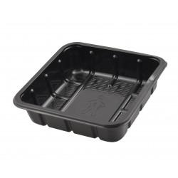 Ds-1000 schaal KS APET 130x130x35mm zwart, 275 grams, 1-vaks